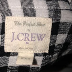 J. Crew Tops - J.Crew Gingham Plaid Shirt Button-down Top